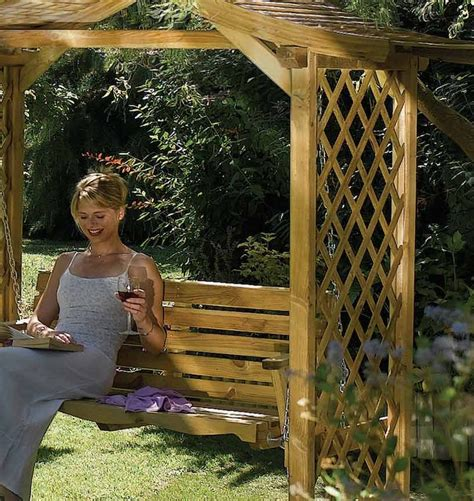 garden arbour swing seat rowlinson s dartmouth arbour with swing seat