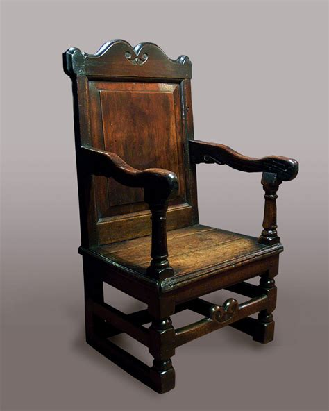 Large Wooden Chair by Antique Chair Chairs