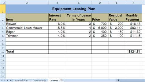 Auto Lease Calculator Spreadsheet by Car Lease Spreadsheet Laobingkaisuo