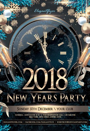 Free New Year 2018 Flyer Psd Template By Elegantflyer Ad Template 2018