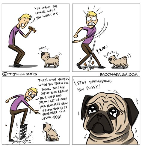 comic pug the cookie baconasylum pug owner comics comics strips
