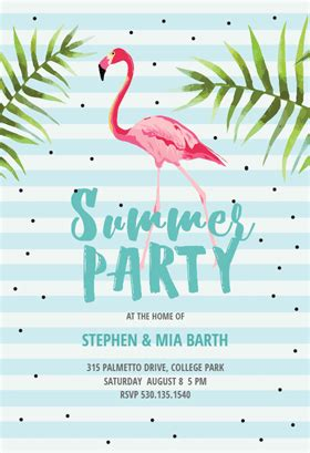 Chill With Flamingo Free Printable Summer Party Invitation Template Greetings Island Flamingo Invitation Template Free