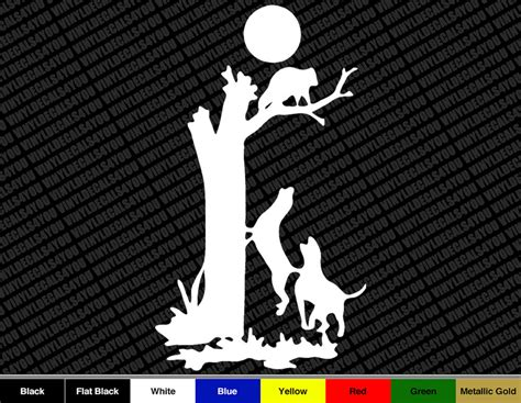 Auto Decals Hunting by 7 Quot Coon Hunter Vinyl Decal Sticker Car Hunting Decal Ebay