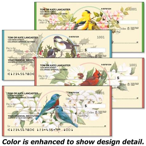 birds blossoms checks current catalog
