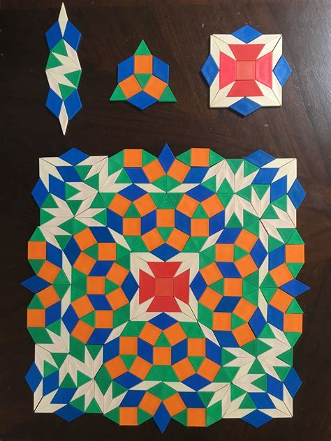 islamic pattern block square and rule for the eighth simple nonperiodic tiling