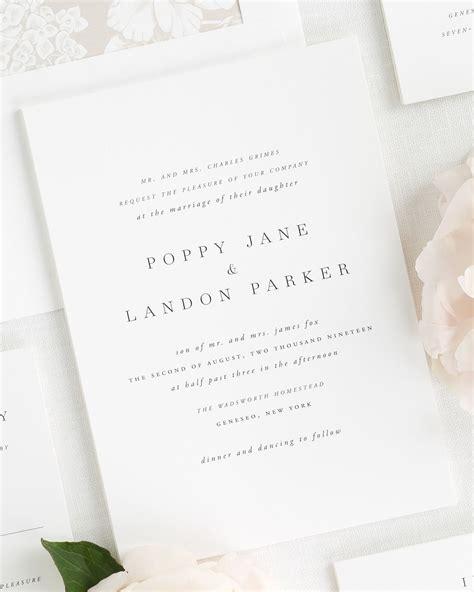 Classic Wedding Stationery by Poppy Wedding Invitations Wedding Invitations By Shine