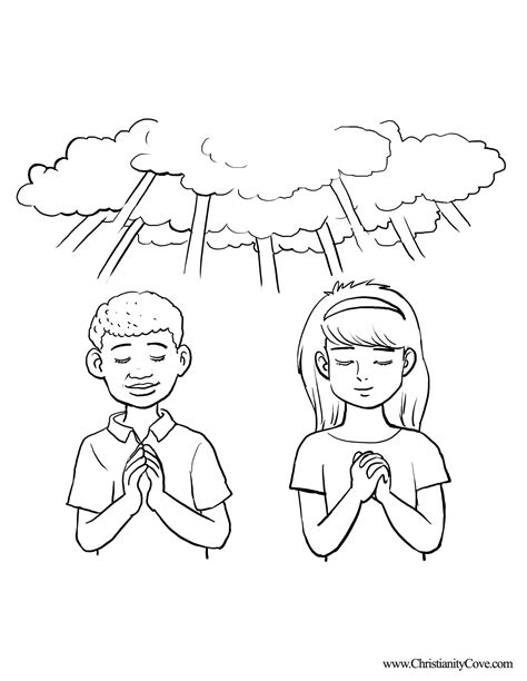 coloring page prayer prayer coloring page 360066