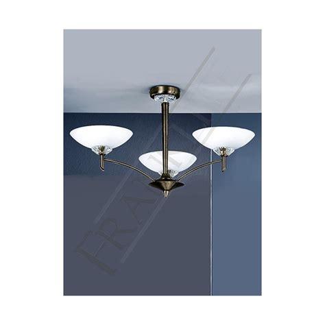 fl2010 3 ceiling light franklite fizz bronze 3 light