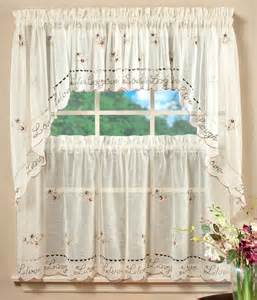 Embroidered Shower Curtains Saturday Knight Live Laugh Love Kitchen Curtain Window