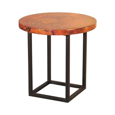 copper accent table copper collection round julia end table end 49r