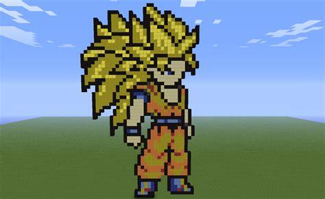 Imagenes De Goku En Minecraft | minecraft son goku super saiyan 3 by kurodrago on deviantart
