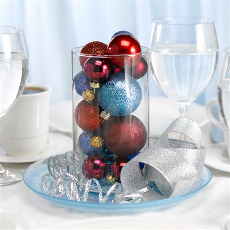 centerpieces with ornaments bargain challenge winter wedding centerpieces 10 each