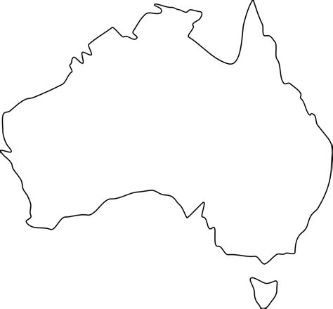 label us map printable australia map outline png clipart best