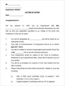 format of appointment letter for pdf 23 appointment letter templates free sle exle