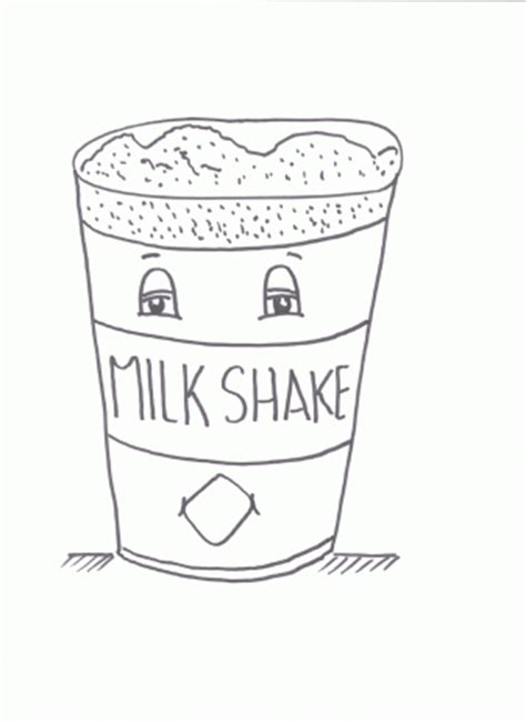 milkshake coloring pages for kids coloring point