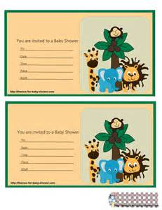 the jungle for baby shower free printable kit oh my baby