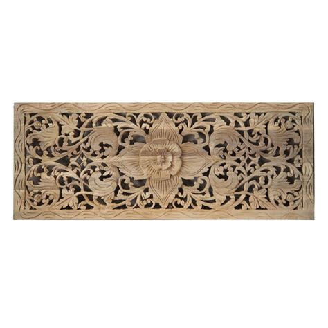 Wood Panel Wall Decor Flower Wood Carving Wall Panel From Thailand Siam Sawadee