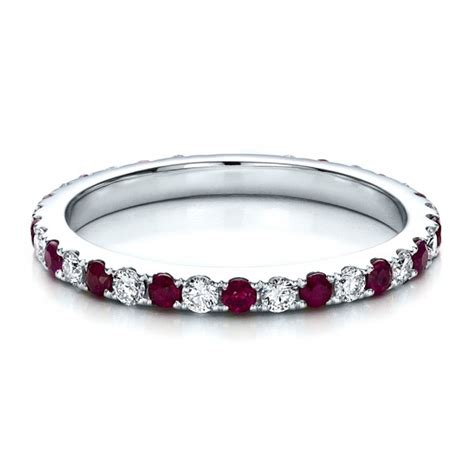ruby eternity band with matching engagement ring 100002