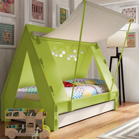 kids tent bed childrens tent cabin bed in green by mathy by bols