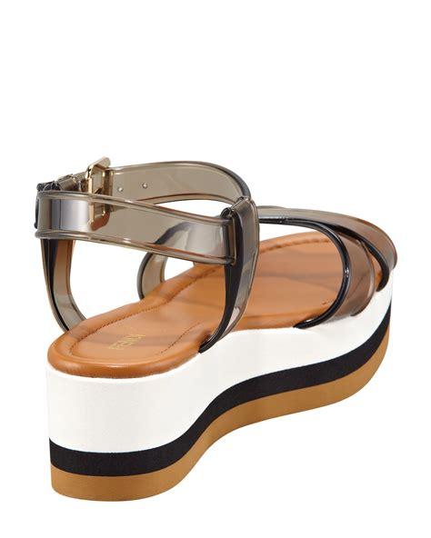 Sandal Jelly 2 fendi jelly flatform sandal in black lyst