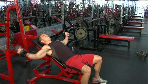 bench cable flyes how to do an incline dumbbell fly youtube
