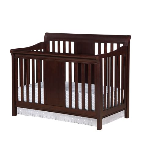 Black Baby Cribs Dorel Home Furnishings Tamryn Black Cherry 4 In 1 Convertible Crib Baby Baby Furniture Cribs