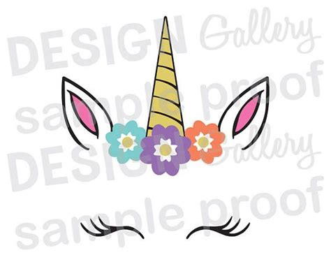 printable unicorn face unicorn face svg dxf png jpg cut files birthday party