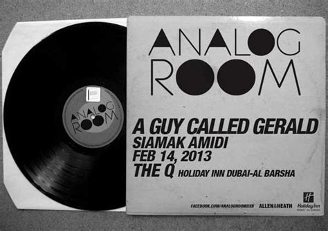 the analog room a called gerald unofficial web page live dj dates 2013