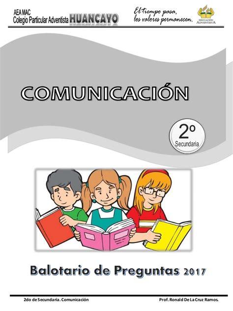 programaciones de comunicaci 243 n con rutas de aprendizaje perueduca programaciones de comunicacion secundaria