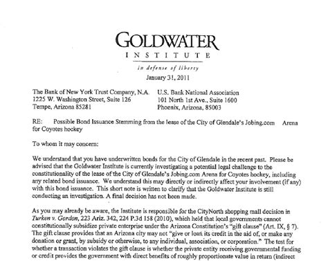 Letter To Investor Offside Sports Goldwater Letter To Potential Investors