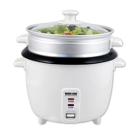 Rice Cooker Food Grade Shop Better Chef 5 Cup Rice Cooker W Food Steamer Dropship5sta