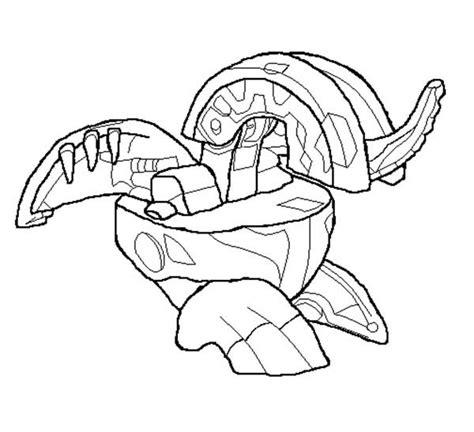 bakugan painting bakugon dragonoid free colouring pages
