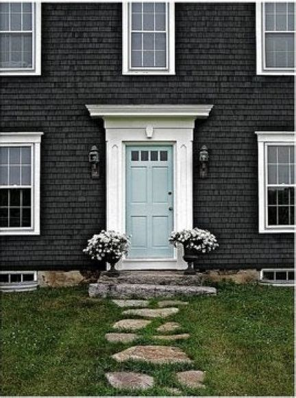 blue house white trim front door love the blue door here with the white trim against the