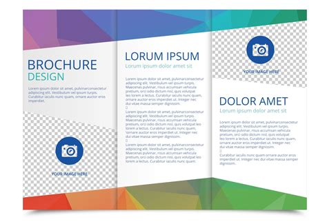 free tri fold brochure vector template download free