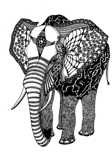 elephant coloring pages  adults http