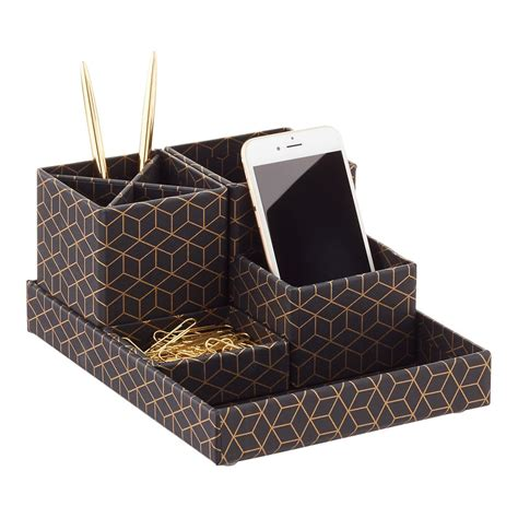 Container Store Desk Organizer Bigso Hexagold Stockholm Desktop Organizer The Container Store