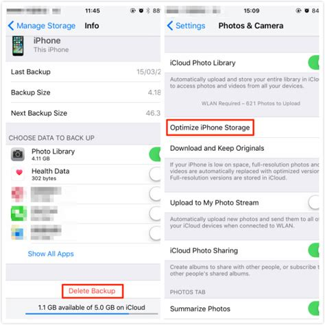 optimize iphone storage how to manage icloud storage on iphone ipad ipod