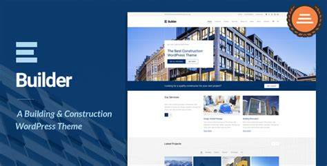 theme website generator builder building construction wordpress theme by