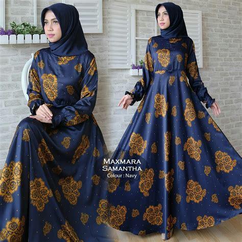 Maxi Maxmara Batik Bunga 5 Warna gamis modern maxi maxmara baju muslim murah