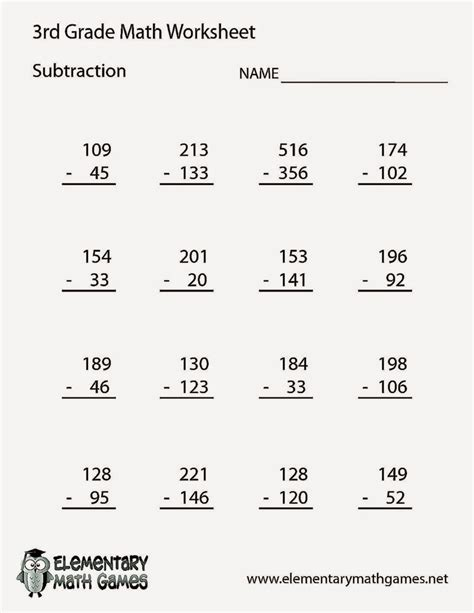 Common Math Worksheets 3rd Grade by Basic Math Worksheets For 3rd Grade Worksheet Exle