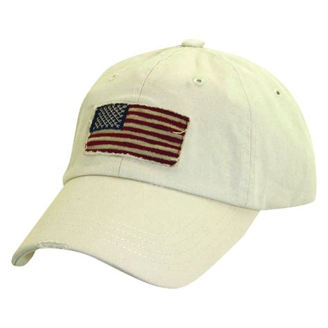 cotton and stripes american flag baseball hat by