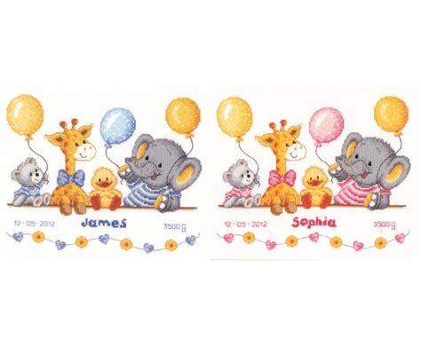 noah mills birth chart animals celebrate birth record vervaco cross stitch kit