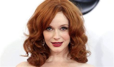 actress with red hair in tv show mad men star christina hendricks struggled as redhead