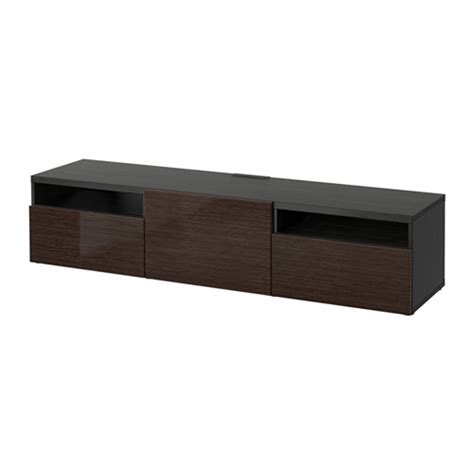 besta tv unit ikea best 197 tv unit black brown selsviken high gloss brown