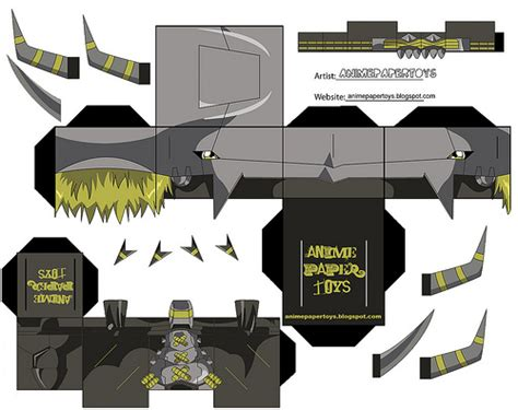 Digimon Papercraft - papercraft blackwargreymon digimon flickr photo