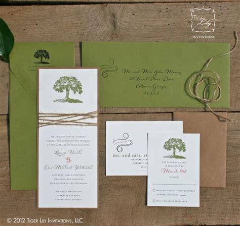 twine wedding invitations sydney rustic tree wedding invitation with twine tree wedding