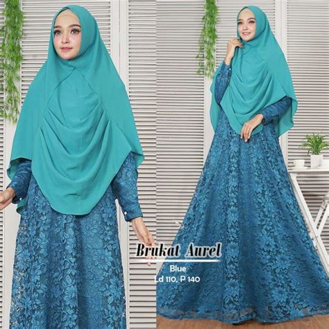 Syari Aurell by Gamis Syari Aurel Brokat Model Baju Muslim