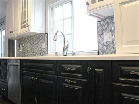 kitchen cabinets black and white 37 black lower and white kitchen cabinets new kitchen style