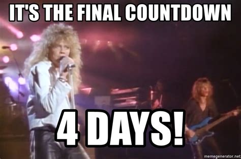 Its The Countdown by It S The Countdown 4 Days Europe Meme Generator