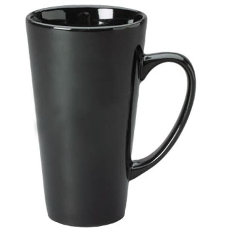 coffee mug t handle 16 oz 16 oz topeka latte mug black 42189 splendids
